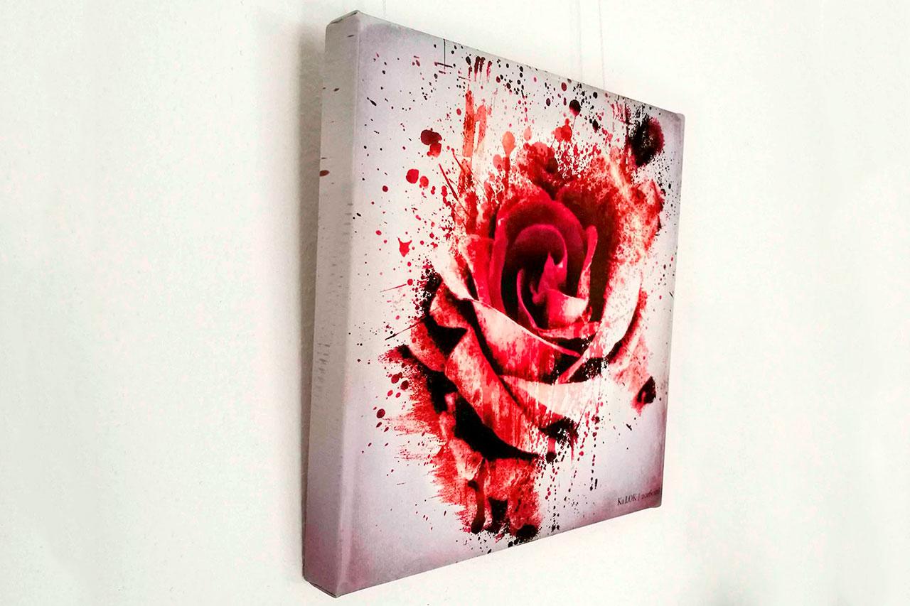 Rose Sanguis by Ka L-O-K Somber Ambivalentiae – Fine Art Canvas Print